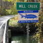 Sign for Mill Creek