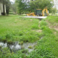 Surface water over septic system