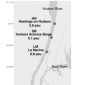 Map showing Oyster restoration on Hudson River